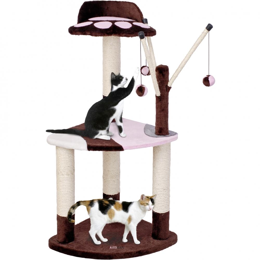 Ansamblu joaca pisici, Pet Expert Kittidas Maro/Roz 96 cm