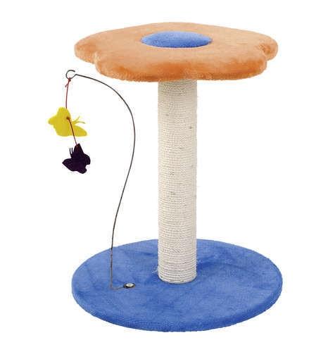 Ansamblu joaca pisici, Pet Expert Petite Fleur Portocaliu/albastru 61 CM