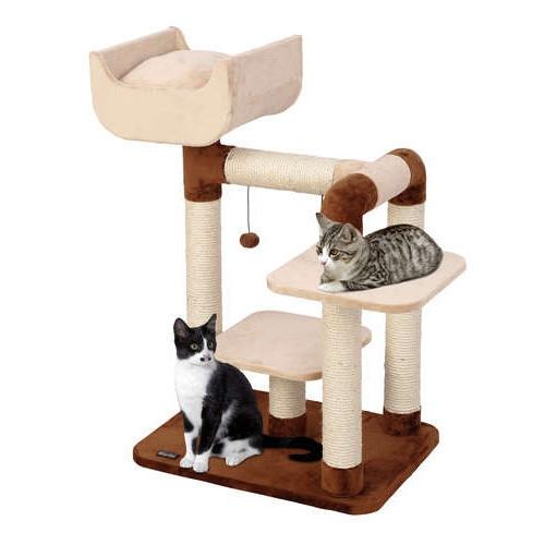 Ansamblu joaca pisici, Pet Expert Quatro Bej/Maro 86 CM