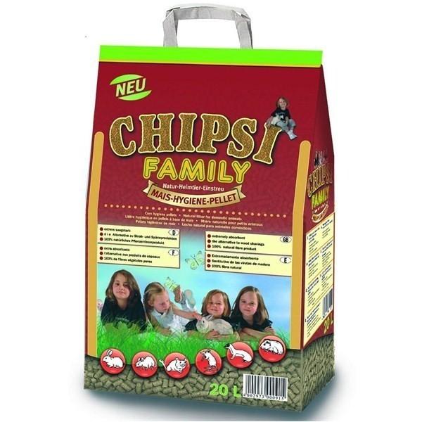 Asternut pentru rozatoare, Chipsi Family 20 l