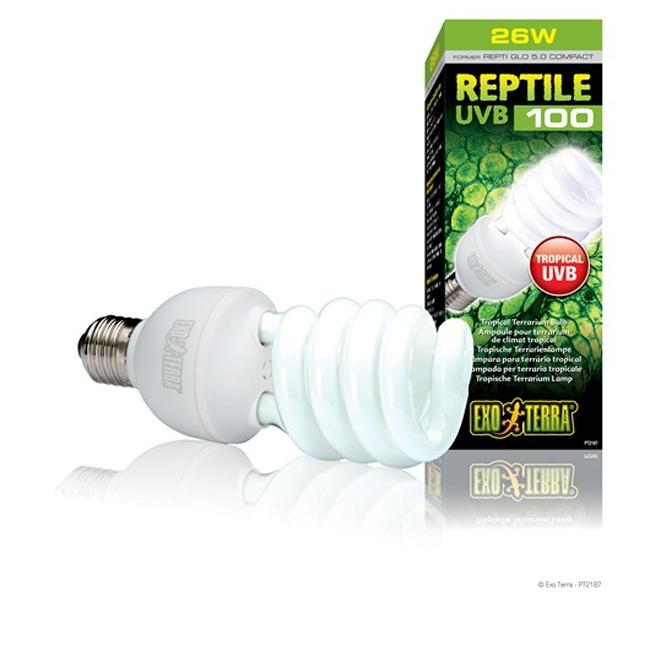 Bec pentru terariu, Exo Terra, Reptile UVB100, 25 W, PT2187