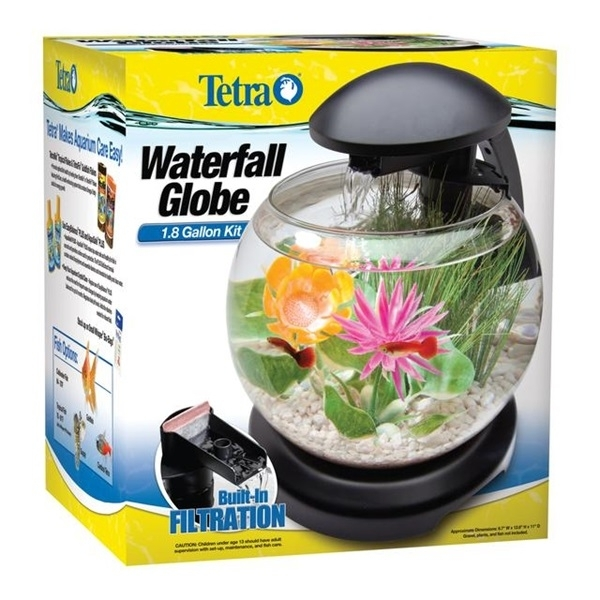 Bol acvariu, Tetra Cascade Globe, 6.8 litri, alb