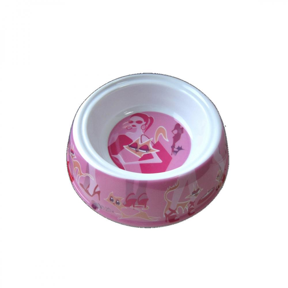 Castron melamina pisici Glamour Pink 300 ML 8033