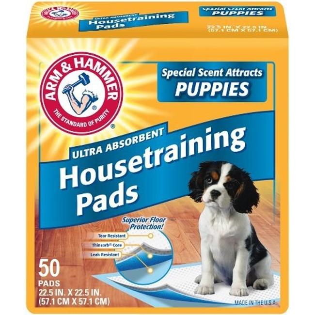 Covorase absorbante pentru caini Arm&Hammer Puppy, 50 buc