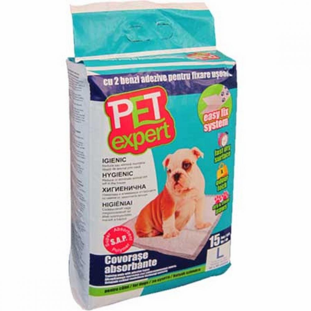 Covorase absorbante Pet Expert XL cu benzi adezive 60X90CM