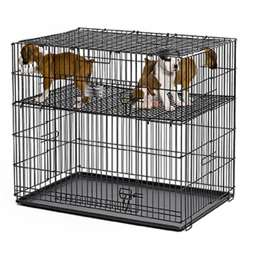 Cusca metalica pentru caini, Puppy Playpen 61x91x76 CM 224-05