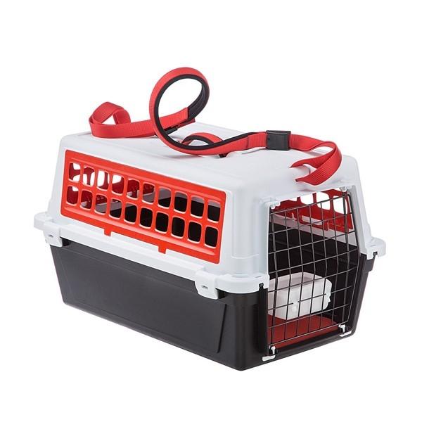 Cusca transport pentru caini, Ferplast, Atlas Trendy Plus 10, Rosie