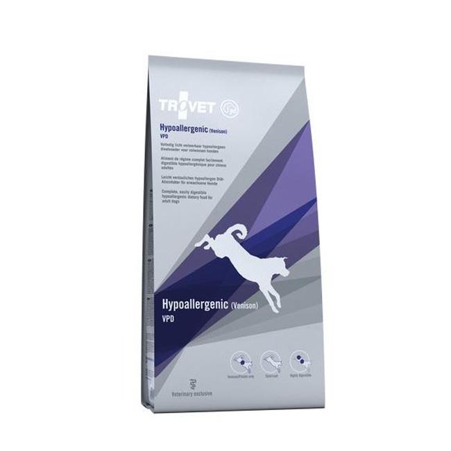 Dieta pentru caini Trovet Hypoallergenic Vanat, 10 Kg