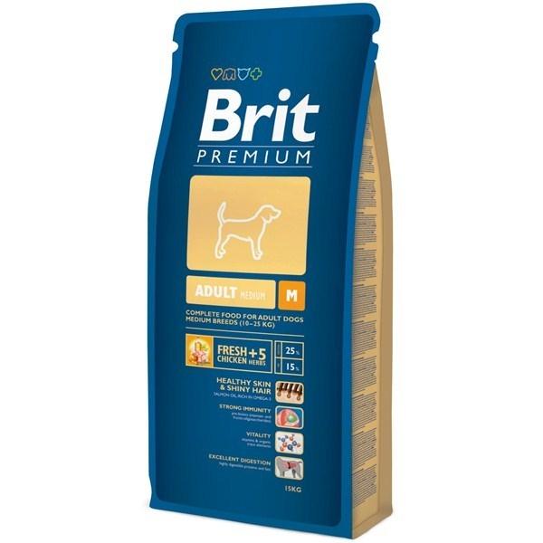 Hrana pentru caini, Brit Premium Adult M, 15 Kg