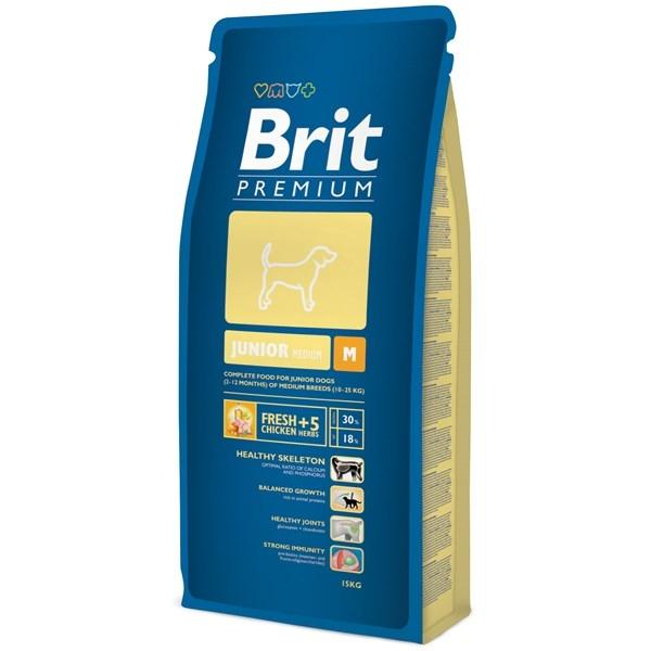 Hrana pentru caini, Brit Premium Junior M, 15 Kg