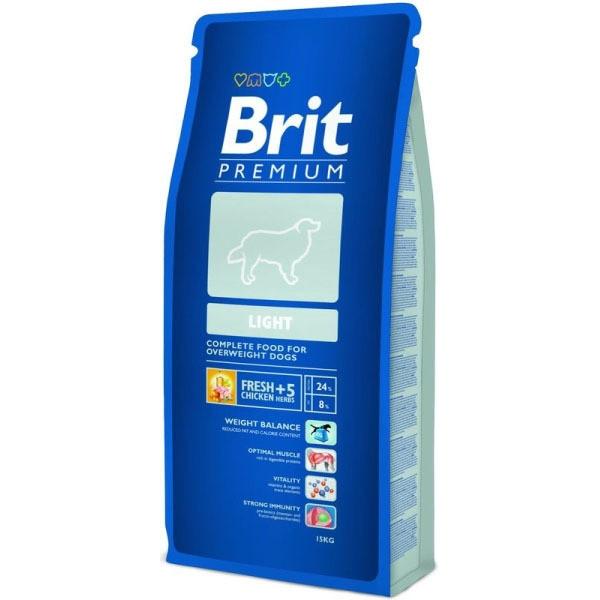 Hrana pentru caini, Brit Premium Light, 15 Kg