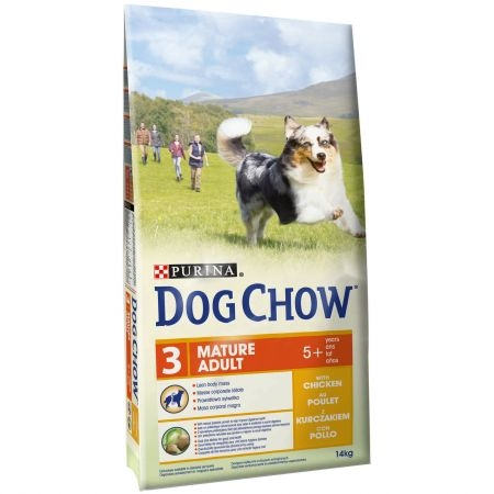 Hrana pentru caini, Dog Chow, Adult Marure Pui, 14 Kg