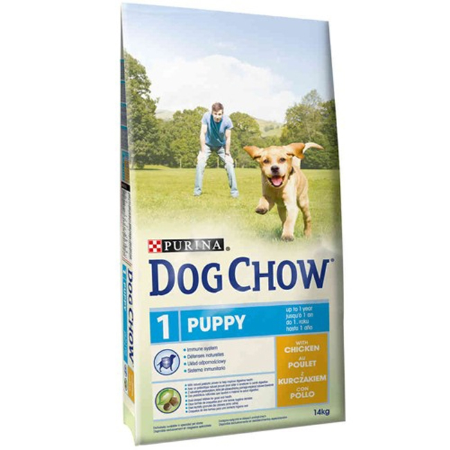 Hrana pentru caini Dog Chow Puppy Chicken, 14 kg