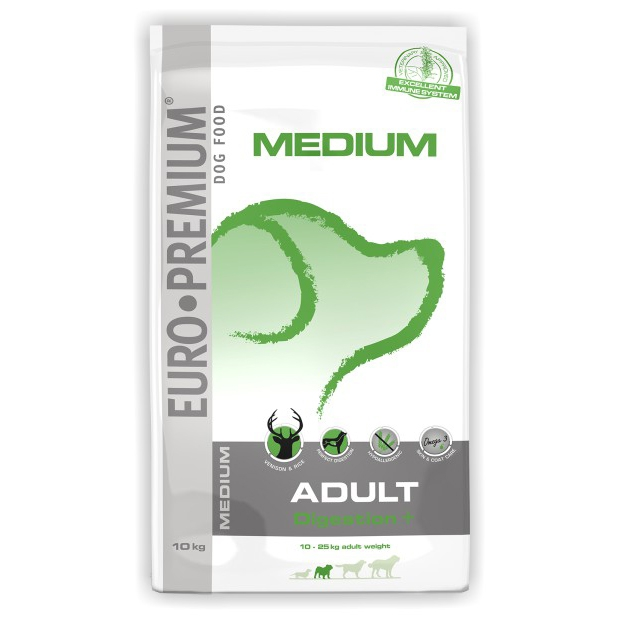 Hrana pentru caini, Euro Premium Medium Adult Digestion Plus, 10 Kg