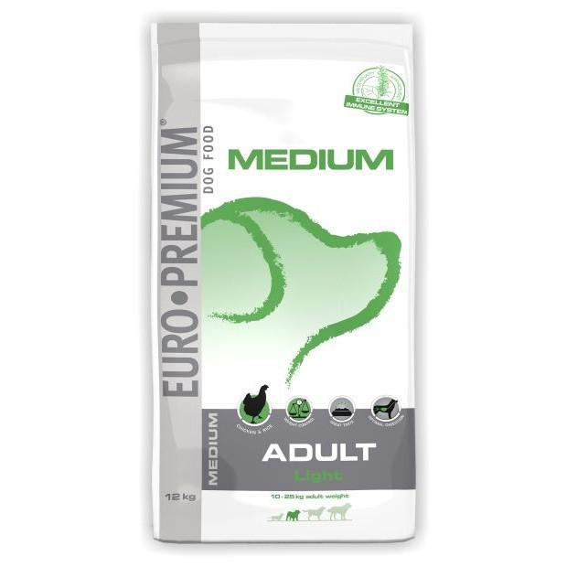 Hrana pentru caini, Euro Premium Medium Adult Light, 12 Kg