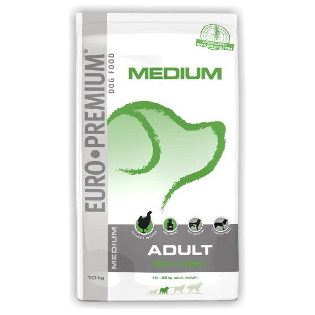 Hrana pentru caini, Euro Premium Medium Adult Sterilized, 10 Kg