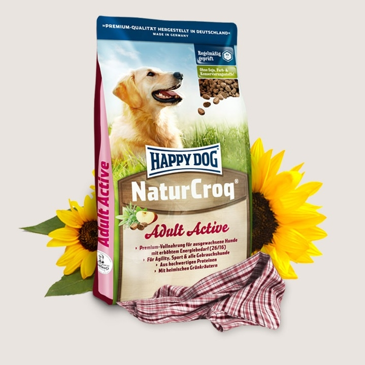 Hrana pentru caini, Happy Dog Natur Croq Active 15 Kg