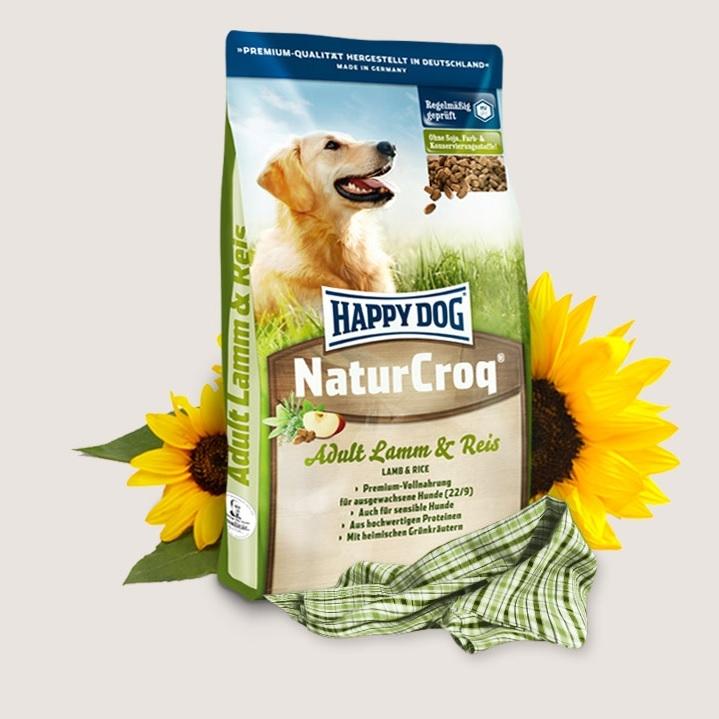 Hrana pentru caini, Happy Dog Natur Croq Lamm & Reis