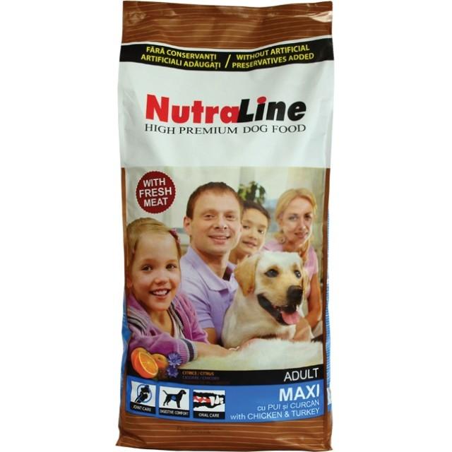 Hrana pentru caini, NutraLine Adult Maxi, 12.5 Kg