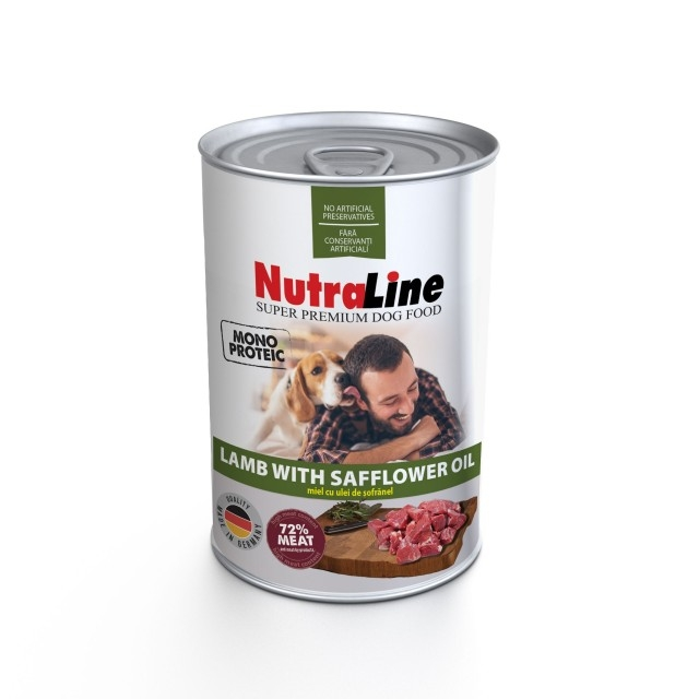 Hrana pentru caini, Nutraline, Dog Adult Monoprotein Miel Ulei de Sofranel