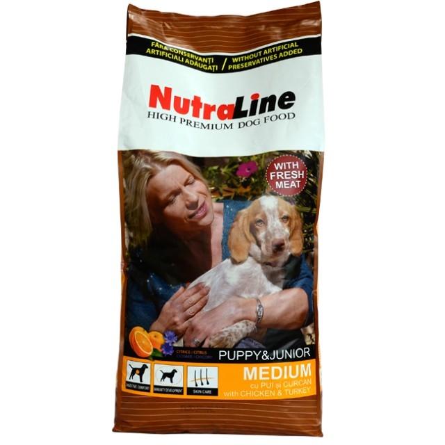 Hrana pentru caini, NutraLine Puppy Junior Mediu, 12.5Kg