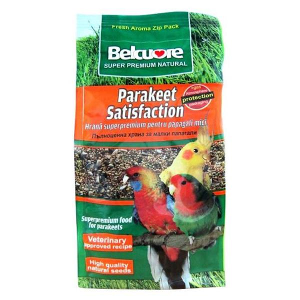Hrana pentru pasari Belcuore Satisfaction papagali mici, 500 g