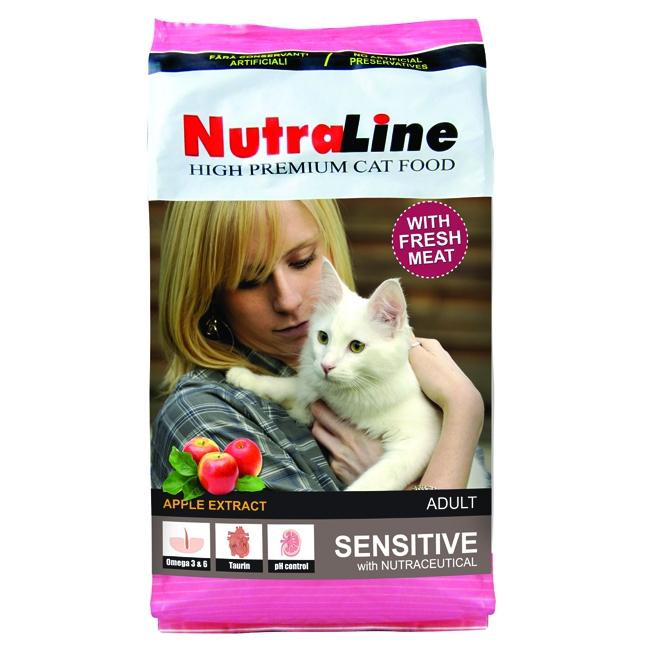 Hrana pentru pisici, Nutraline Adult Sensitive, 10 Kg