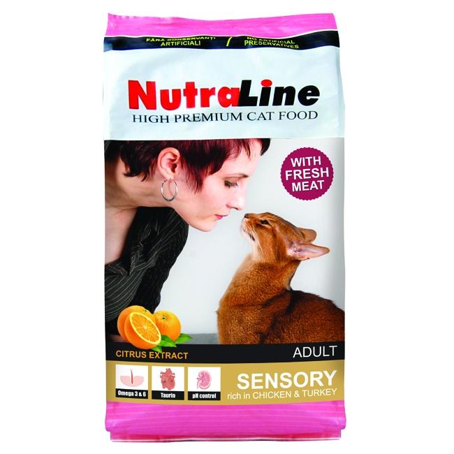 Hrana pentru pisici, Nutraline Adult Sensory, 10 Kg