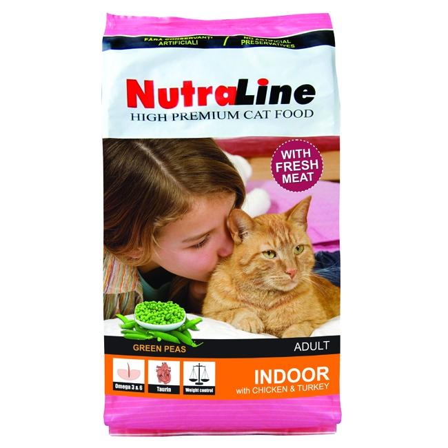 Hrana pentru pisici, Nutraline Indoor, 10 Kg
