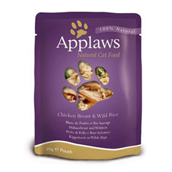 Hrana umeda pentru pisici, Applaws Piept de Pui cu Orez Salbatic 70 g