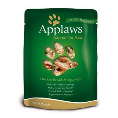 Hrana umeda pentru pisici, Applaws Piept de Pui cu Sparanghel 70 g