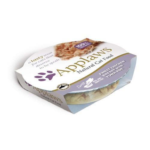 Hrana umeda pentru pisici, Applaws Piept de Pui si Ton 60 g