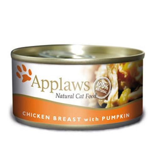 Hrana umeda pentru pisici, Applaws Piept Pui si Dovlecel 70 g