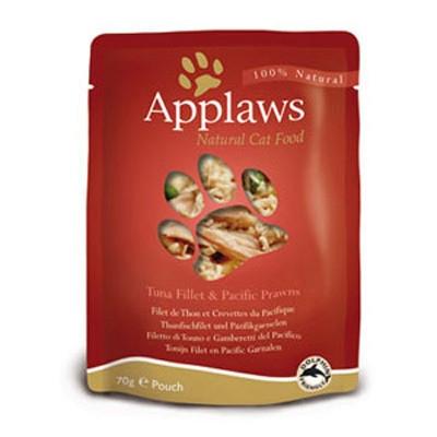 Hrana umeda pentru pisici, Applaws Ton cu Creveti 70 g