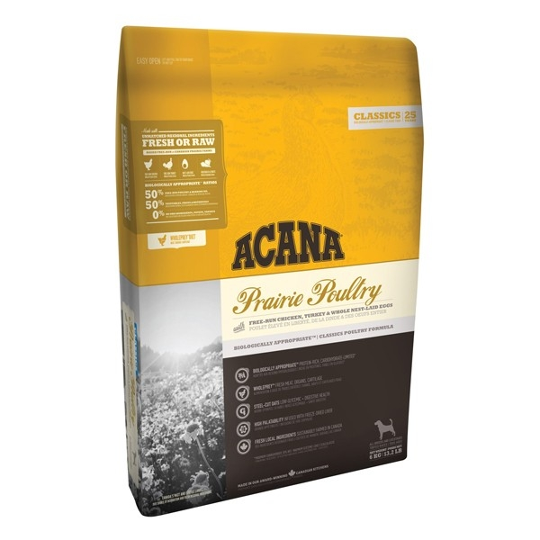 Hrana uscata pentru caini, Acana, Classics Prairie Poultry, 17 KG