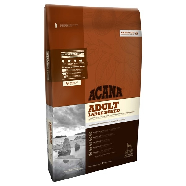 Hrana uscata pentru caini, Acana, Heritage Adult Large Breed, 17 KG