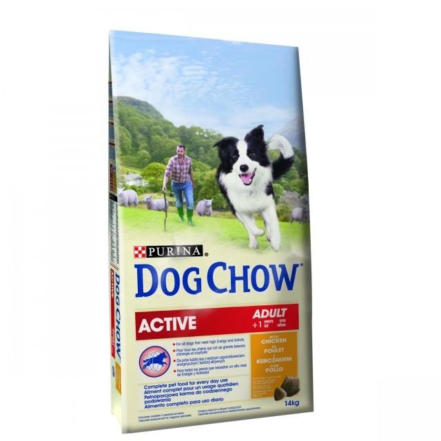 Hrana uscata pentru caini, Dog Chow, Active Pui, 14 Kg