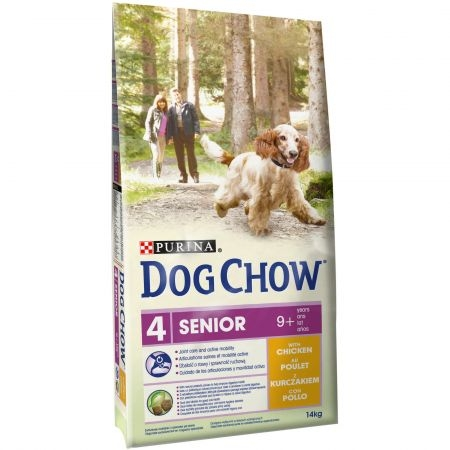 Hrana uscata pentru caini, Dog Chow, Senior Pui, 14 kg