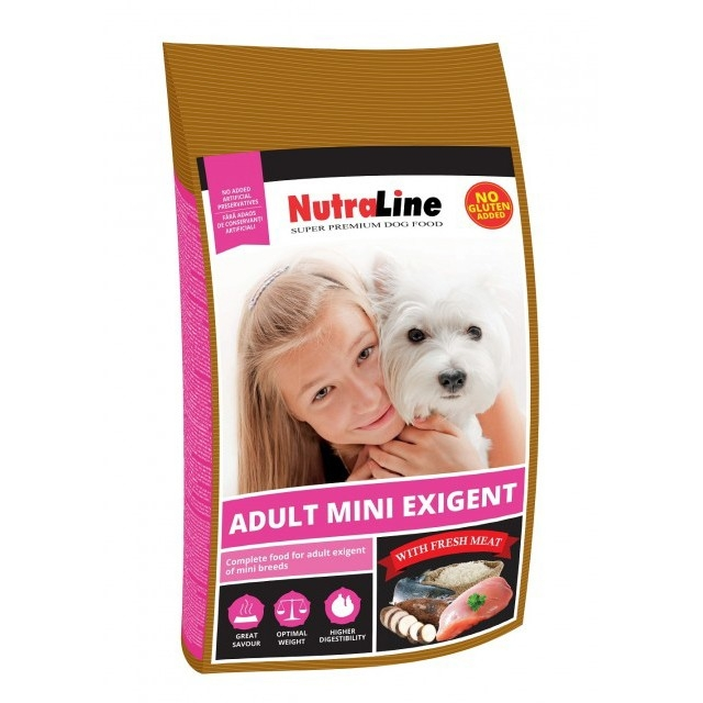 Hrana uscata pentru caini, Nutraline, Dog Adult Mini Exigent