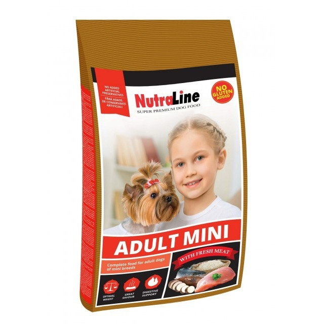 Hrana uscata pentru caini, NutraLine, Mini Adult