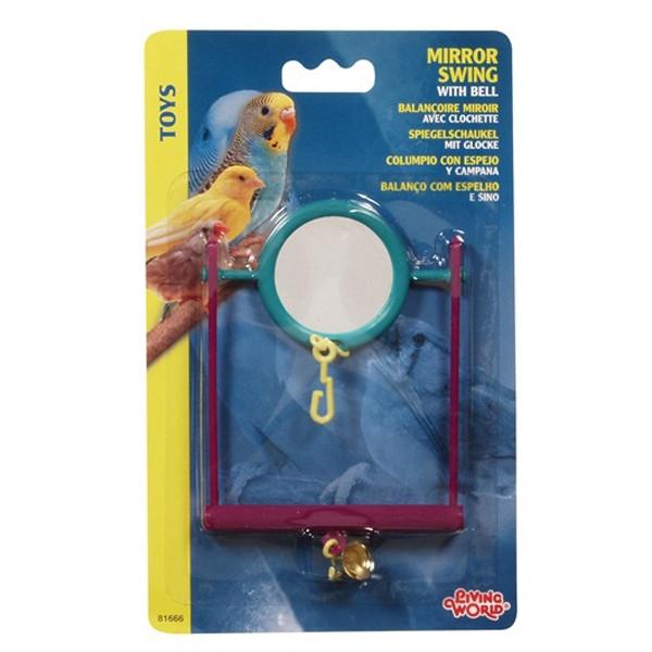 Jucarie pentru pasari Hagen  Living World Mirror Swing with Bell