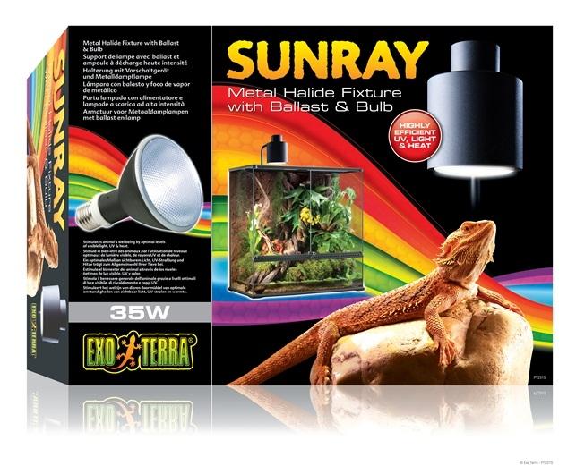 Lampa pentru terariu, Exo Terra, Sunray 35 W PT2315