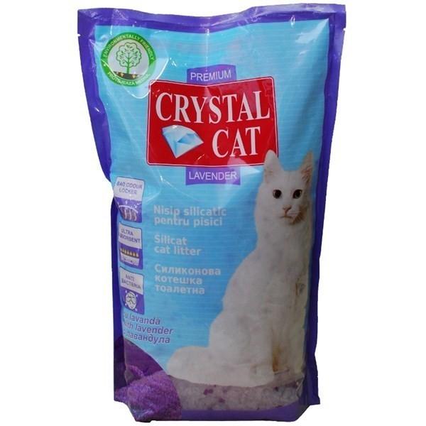 Nisip pentru pisici, Crystal Cat Lavanda, 1.75 KG
