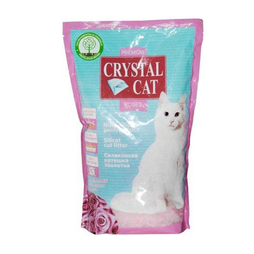 Nisip pentru pisici, Crystal Cat Trandafir, 1.75 KG