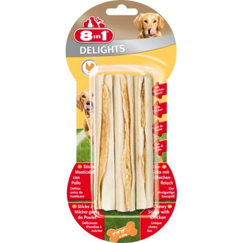 Recompense pentru caini, 8in1, Delights Sticks