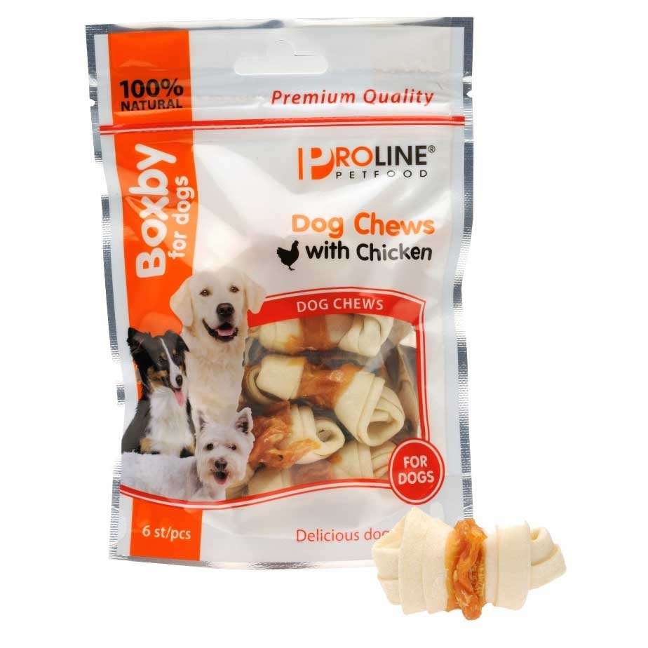 Recompense pentru caini, Proline, Boxby Chews Pui, 6 buc