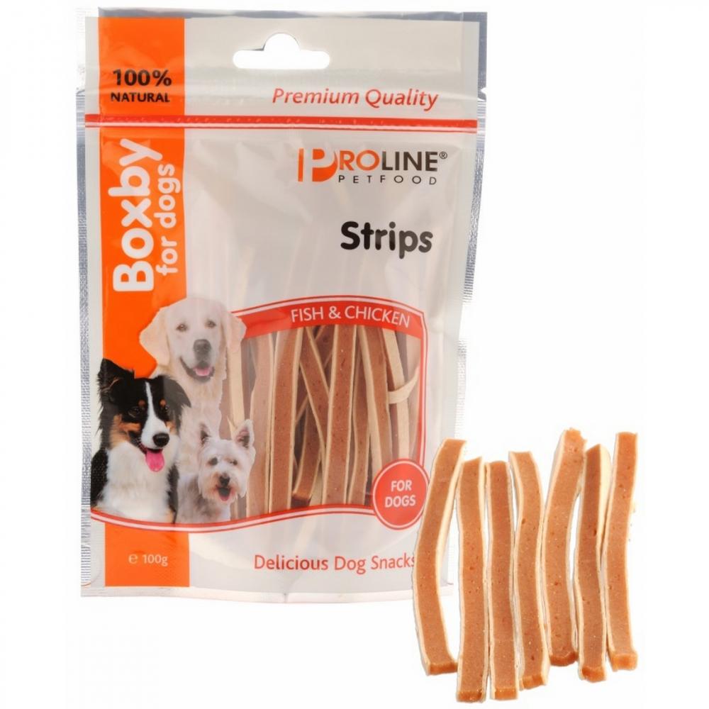 Recompense pentru caini, Proline, Boxby Strips, 100 g