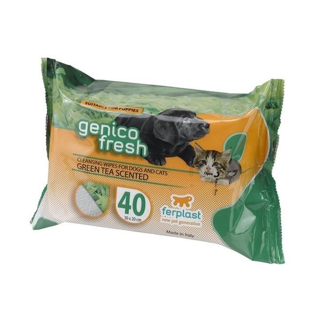 Servetele umede pentru caini Ferplast Genico Fresh Green Tea