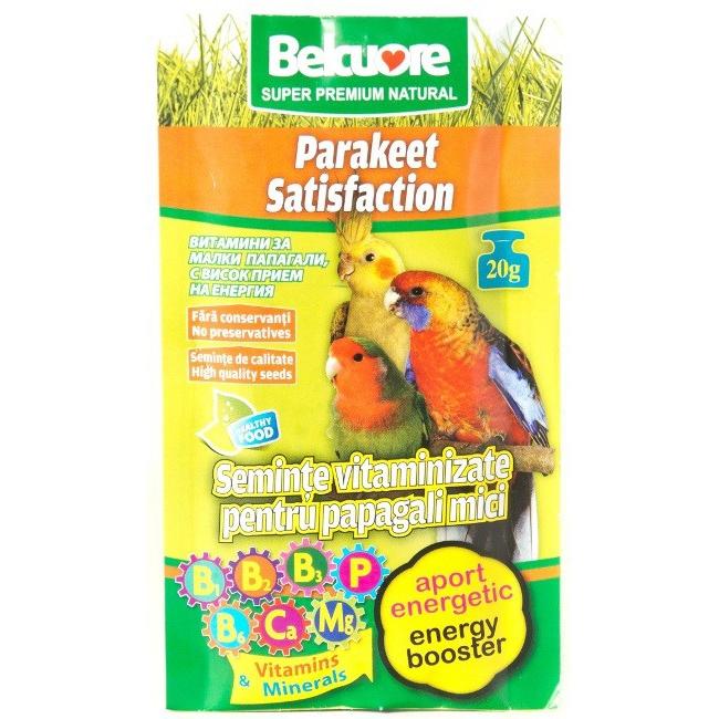 Vitamine pentru pasari Belcuore Energi papagali mici, 20 g