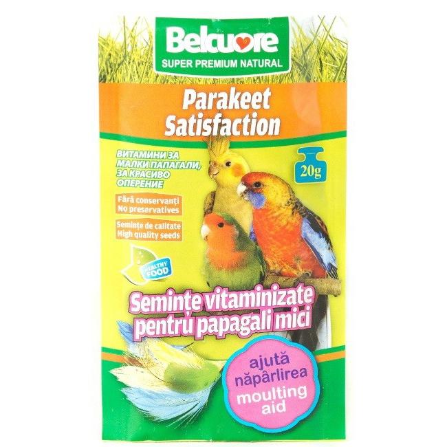 Vitamine pentru pasari Belcuore Naparlire papagali mici, 20 g